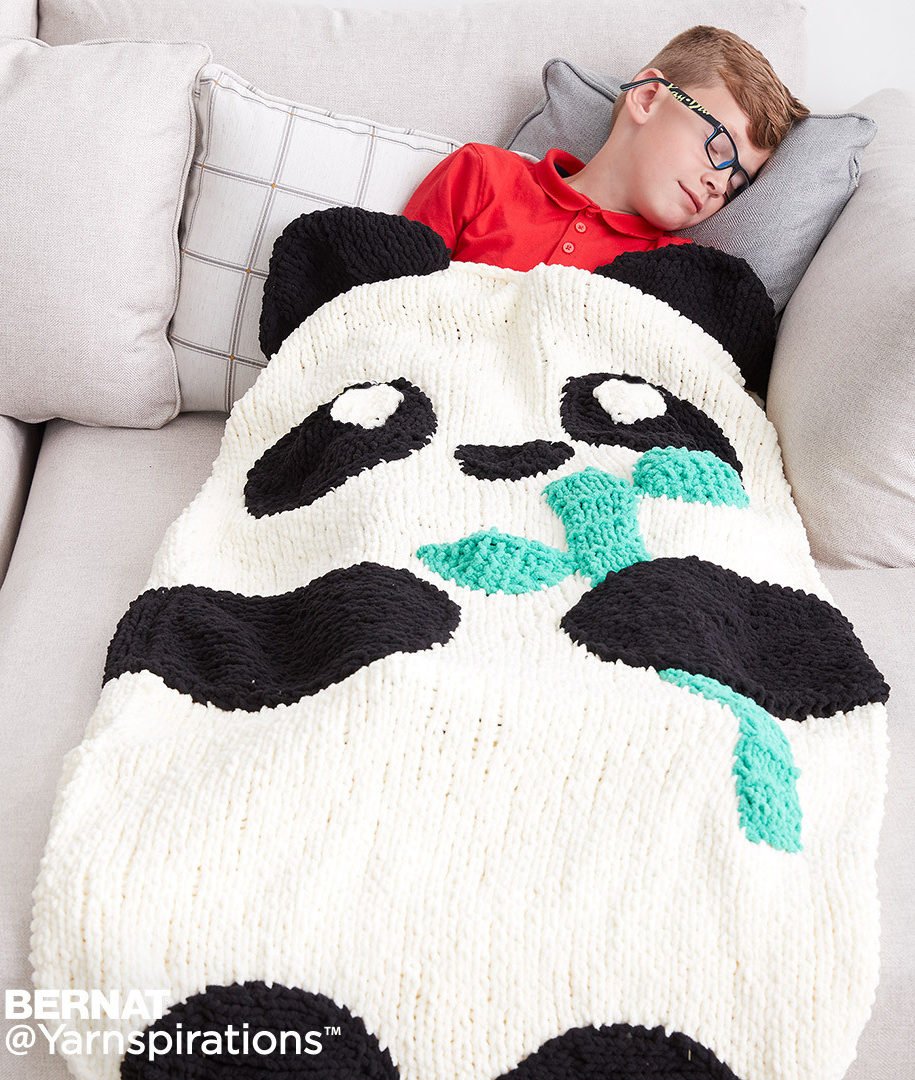 Free Knitting Pattern for Panda Snuggle Sack