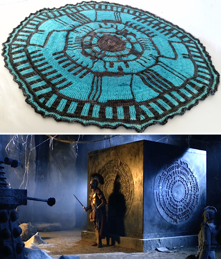 Free Knitting Pattern for Doctor Who Pandorica Shawl