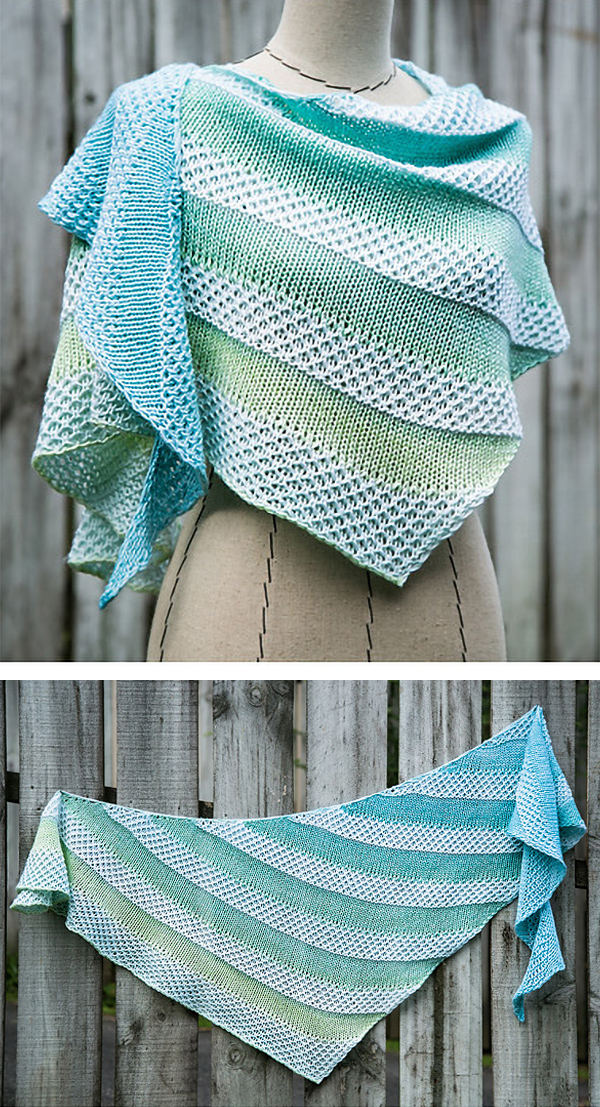 Free until April 30, 2020 Shawl Knitting Pattern for Pania of the Reef Shawl