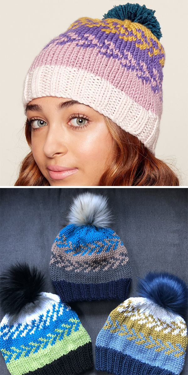 Free Knitting Pattern for Easy Fair Isle Hat