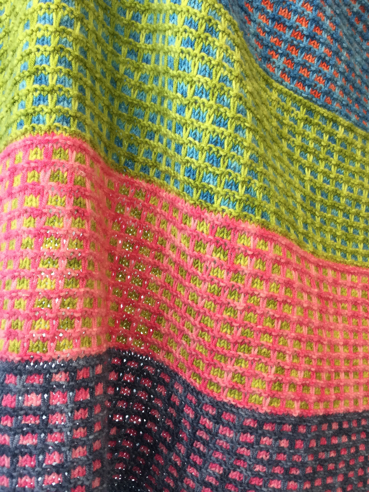 Free Knitting Pattern for 4 Row Repeat Pastille Baby Blanket
