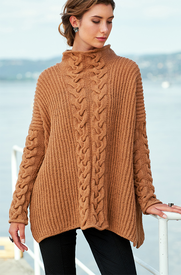 Knitting Pattern for Patent Poncho