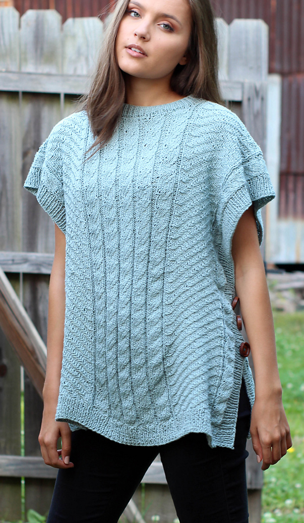 Free Knitting Pattern for Firefly Poncho