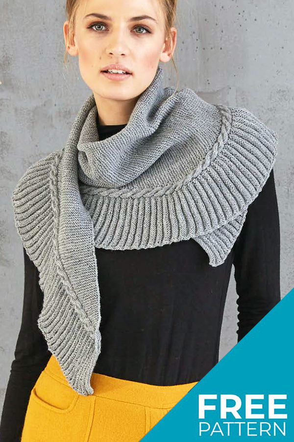 Free Knitting Pattern for Cable Wrap
