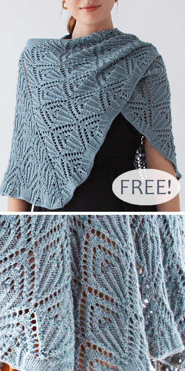 Free Knitting Pattern for Crescent Lace Shawl