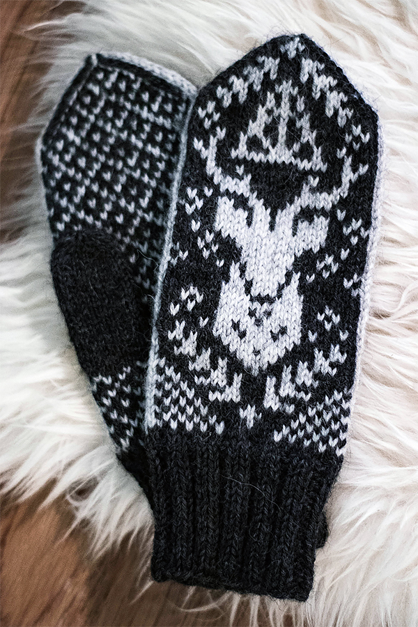 Free Knitting Pattern for Patronus Mittens