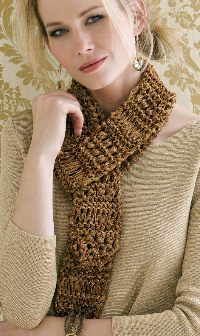 Free Knitting Pattern for Easy Paulette Drop Stitch Scarf
