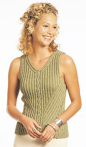 Free knitting pattern for Paulina sleeveless top