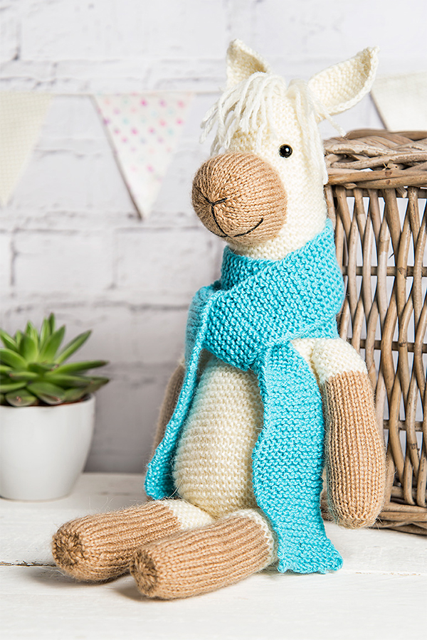 Free Knitting Pattern for Alpaca Toy