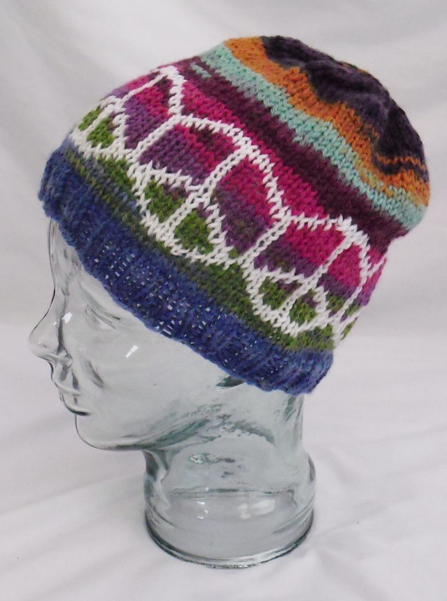 Free Knitting Pattern for Peace Hat