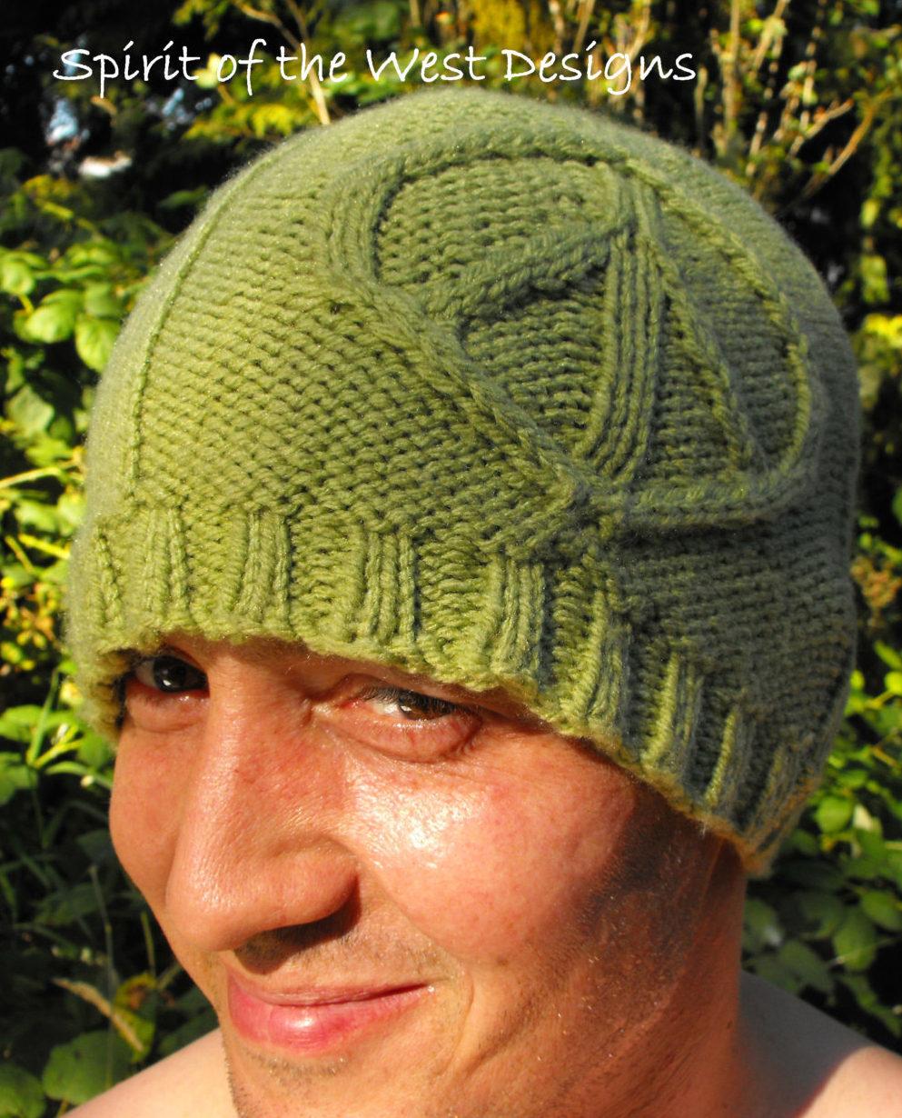 Knitting Pattern for Peace Sign Hat
