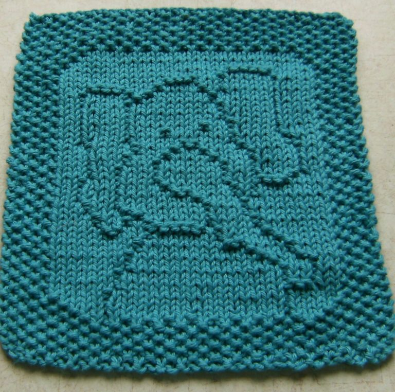 Free Knitting Pattern for Peanut Elephant Cloth