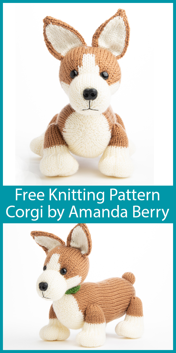 Free Knitting Pattern for Pembroke Welsh Corgi by Amanda Berry
