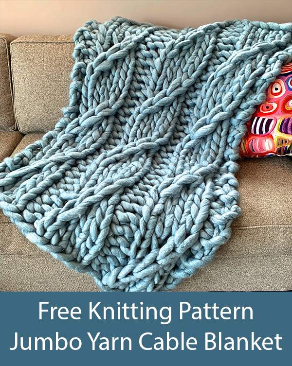 Free Knitting Pattern for Pendere Cable Blanket