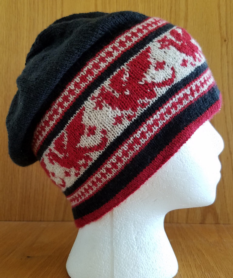 Free Knitting Pattern for Pendragon Slouch Hat