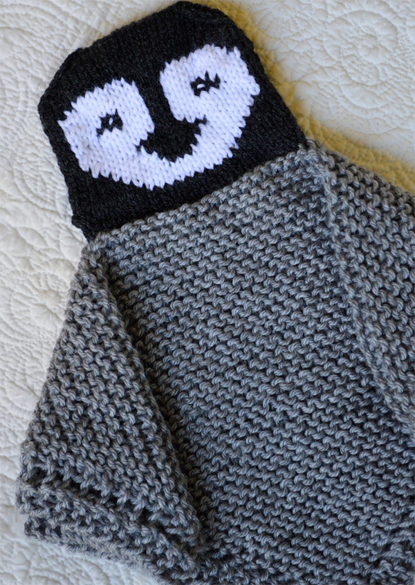 Knitting pattern for Penguin blanket buddy lovey and more security blanket knitting patterns