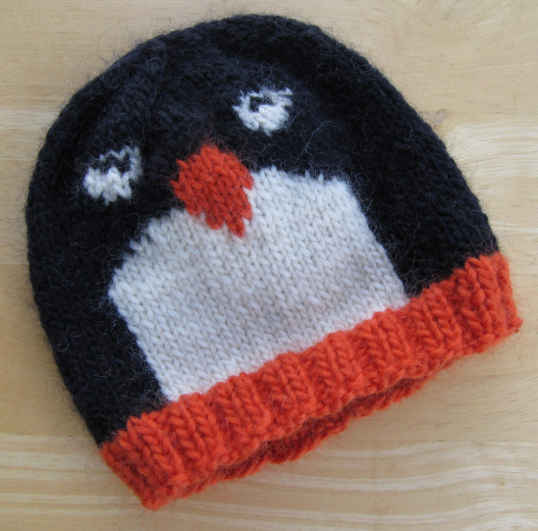 Free Knitting Pattern for Penguin Pal Hat