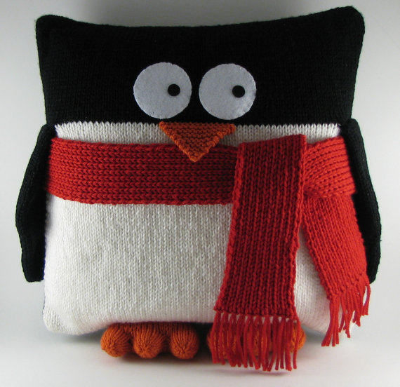 Penguin Pillow Knitting Pattern and more pillow knitting patterns