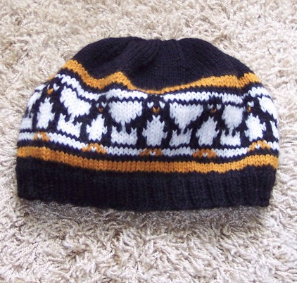 Free knitting pattern for Penguins Galore Hat