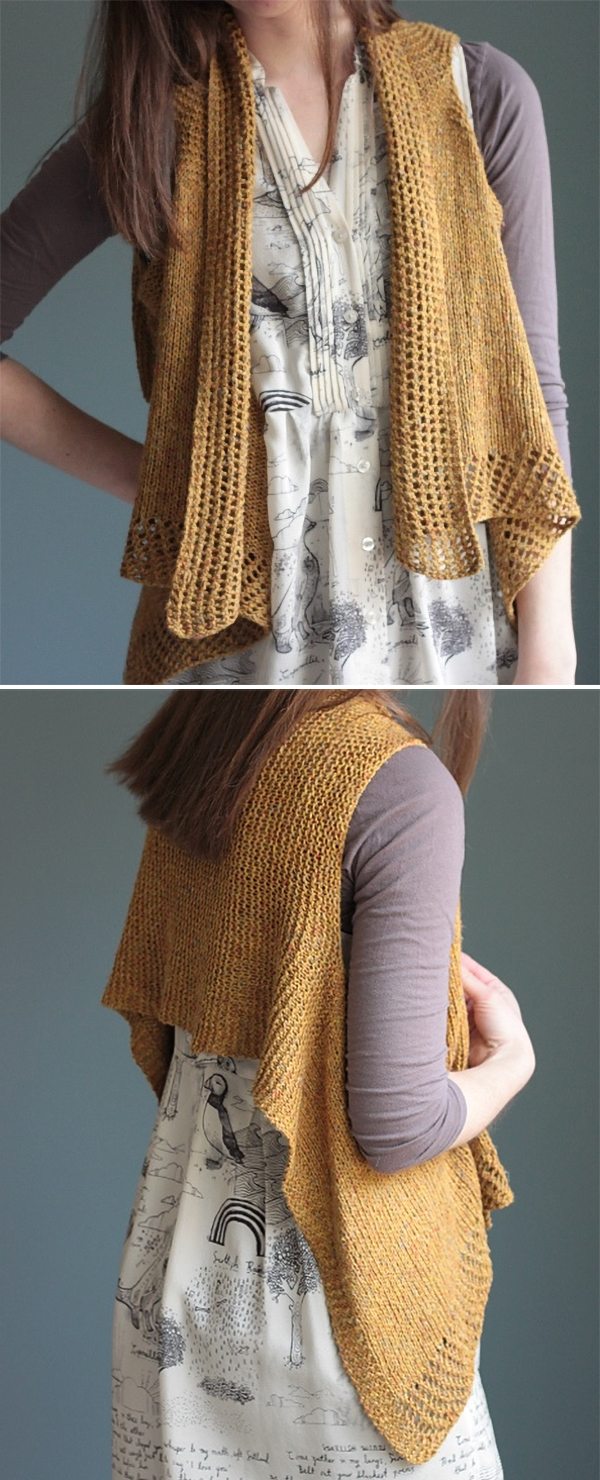 Knitting Pattern for Penny Vest