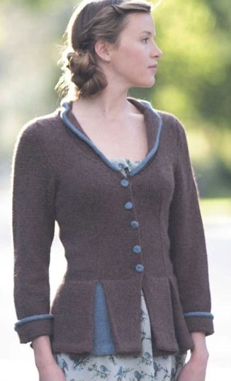 Knitting Pattern for Peplum and Pleat Jacket