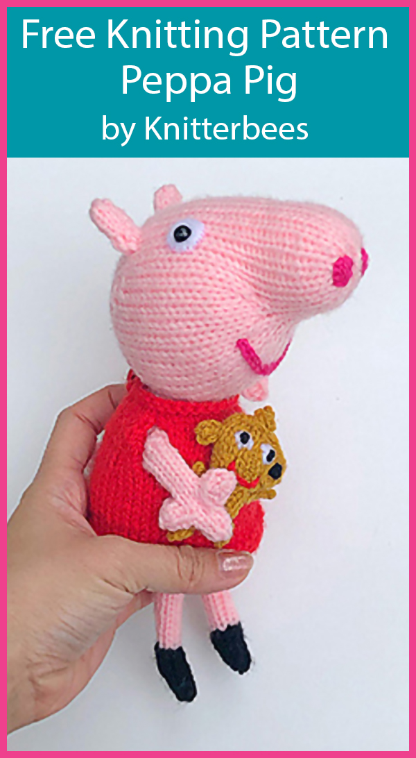 Free Knitting Pattern for Peppa Pig