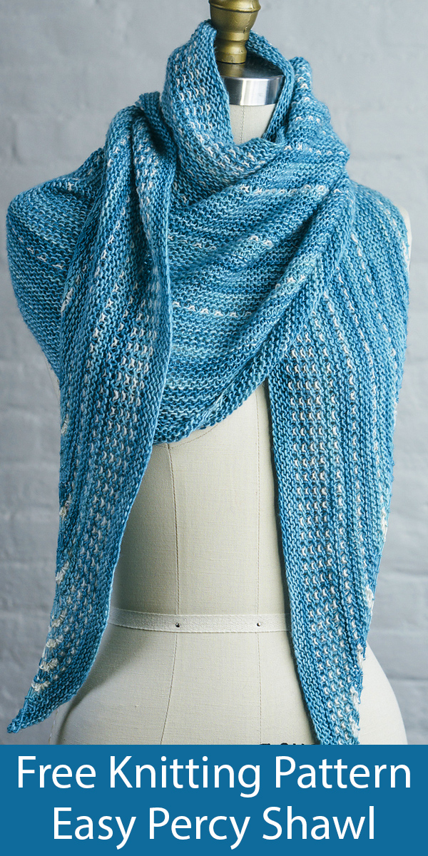 Free Knitting Pattern for Easy Percy Shawl