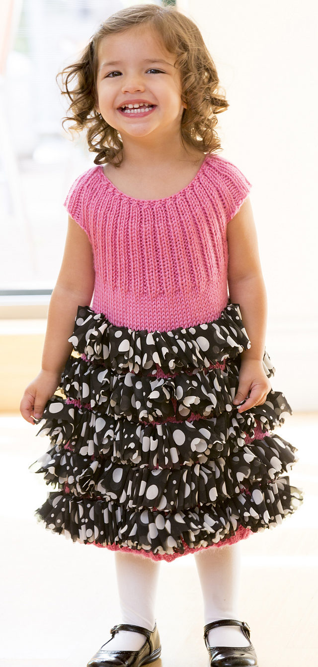 Free Knitting Pattern for Perfect Party Dress