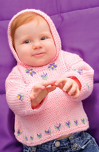 Free knitting pattern for Perfect Posy Hoodie