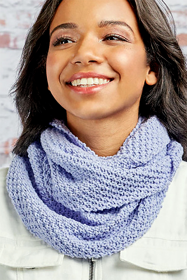 Free Knitting Pattern for Easy 4 Row 2 Stitch Repeat Perfection Cowl