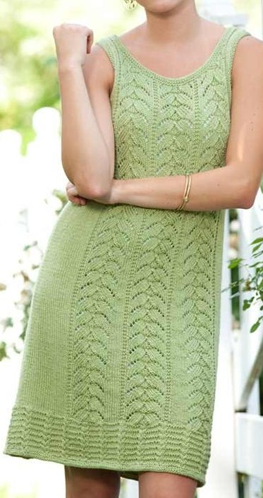 Knitting Pattern for Peridot Dress