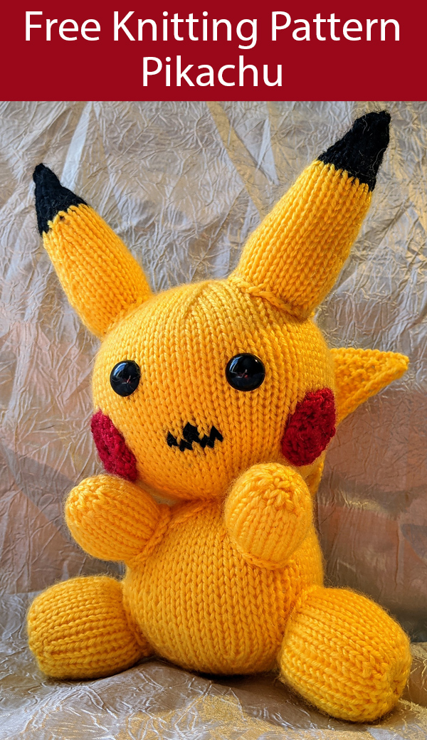 Free Knitting Pattern for Pikachu Toy