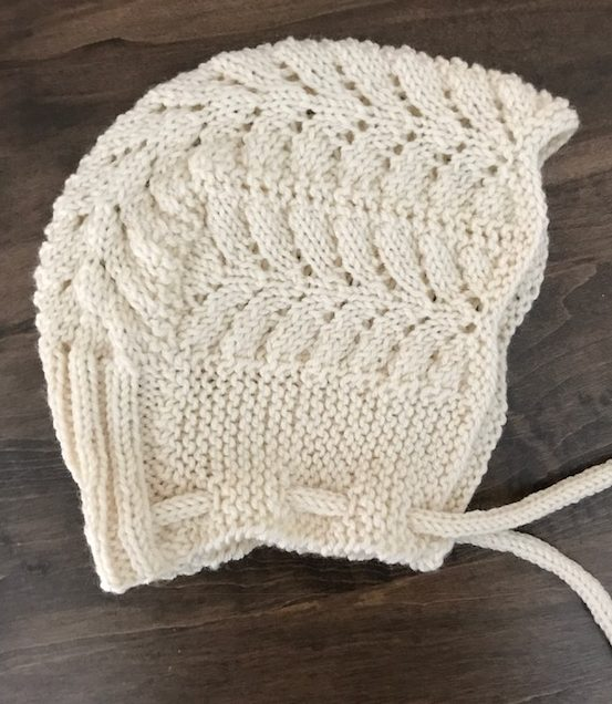 Free Knitting Pattern for Petite Pines Baby Bonnet