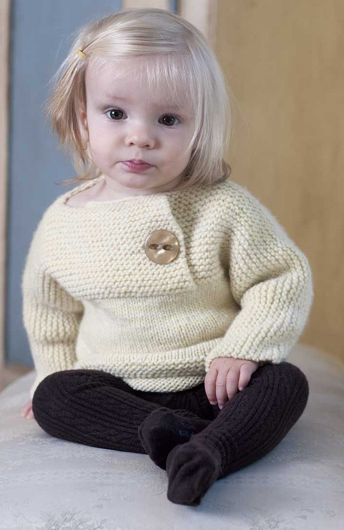Knitting Pattern for Petite Facile Baby and Child Pullover