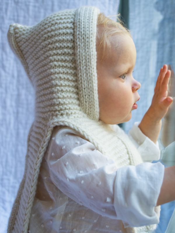 Petite Popover Baby Hood Free Knitting Pattern and more baby hat knitting patterns