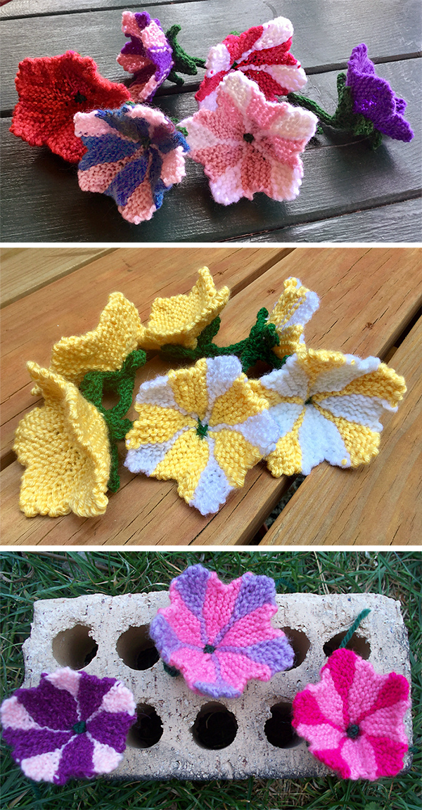 Free Knitting Pattern for Petunia