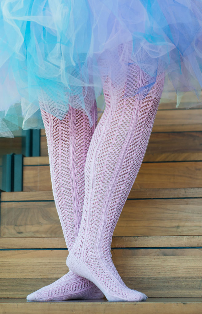 Free Knitting Pattern for Pia Ballerina Stockings