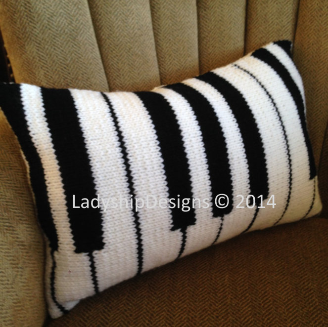 Knitting Pattern for Piano Pillow