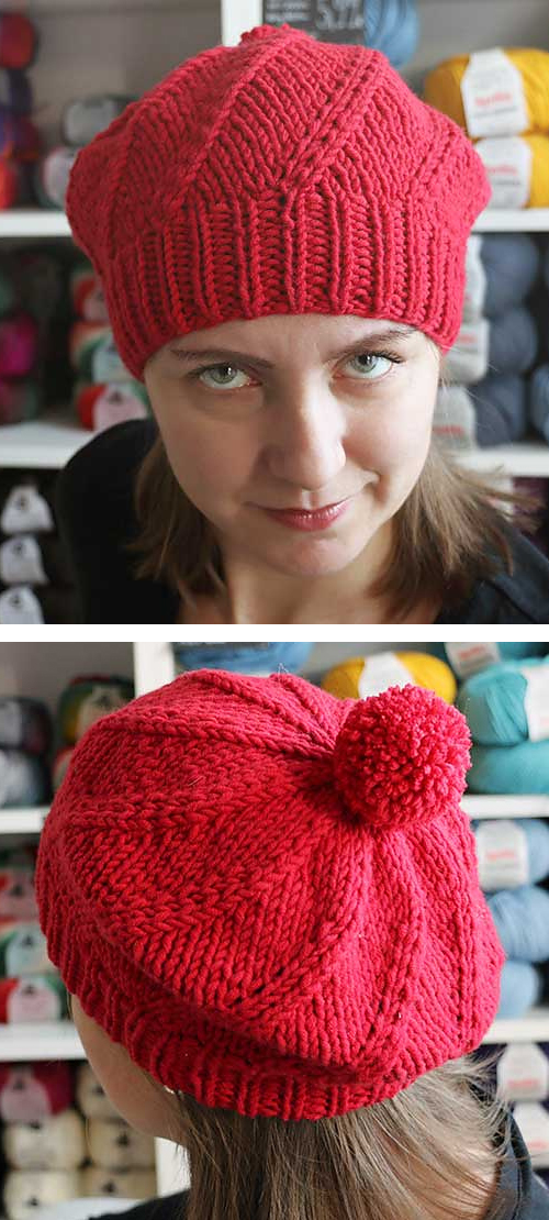 Swirl Hat Knitting Patterns- In the Loop Knitting