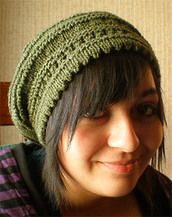 Free Knitting Pattern Picot-Edged Slouchy Beret 9293814b41e