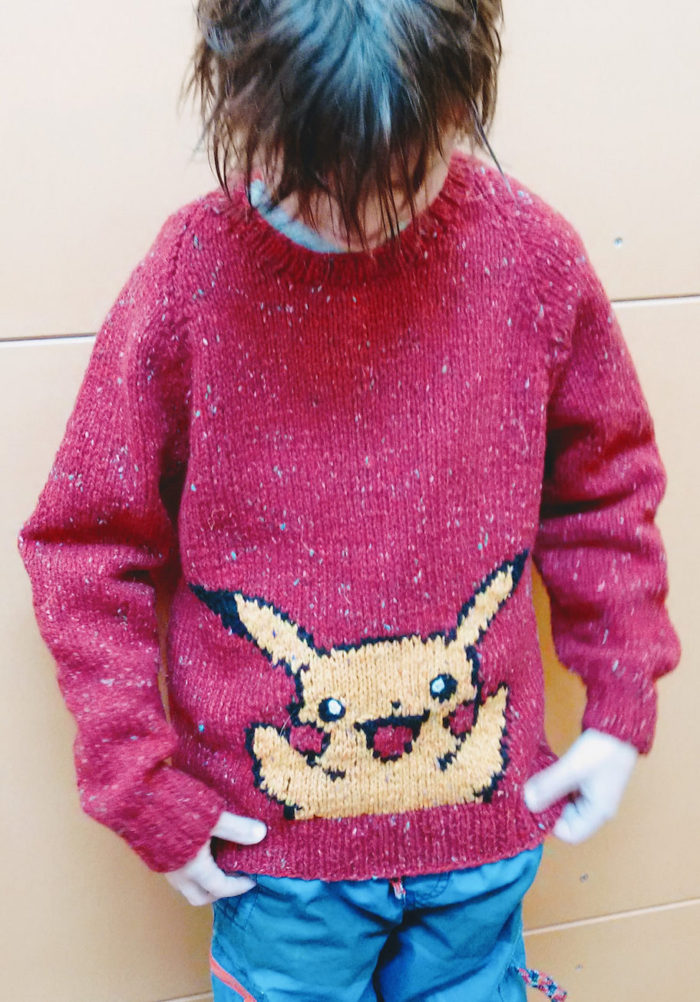 Free Knitting Pattern for Pikachu Pullover
