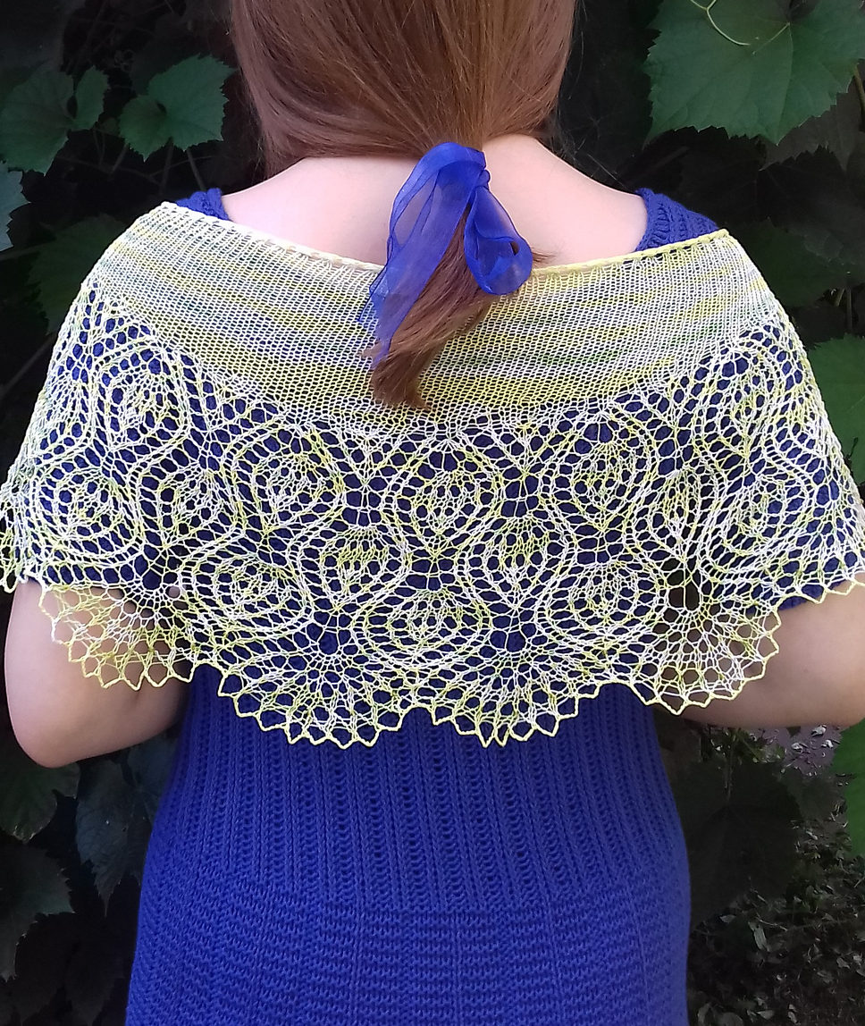 Free Knitting Pattern for Pineapple Delight Shawl