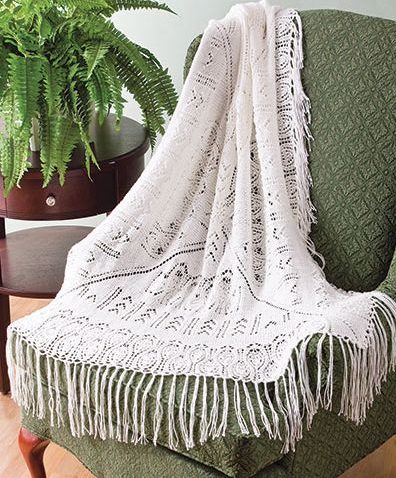 Knitting Pattern for Pineapple Lace Throw