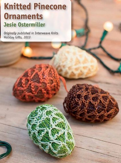 Knitting Pattern for Pine Cone Ornaments