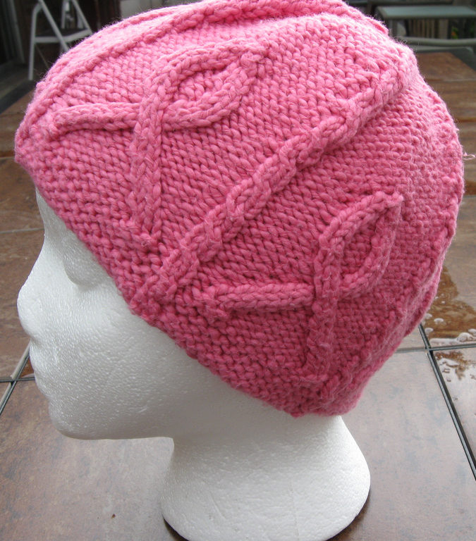 Free Knitting Pattern for Pink Ribbon Hat