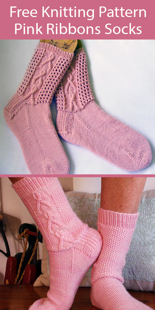 Free Knitting Pattern Cancer Awareness Ribbons Socks