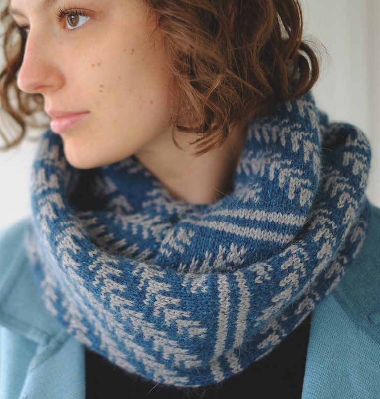 Free Knitting Pattern for Pine Bough Cowl