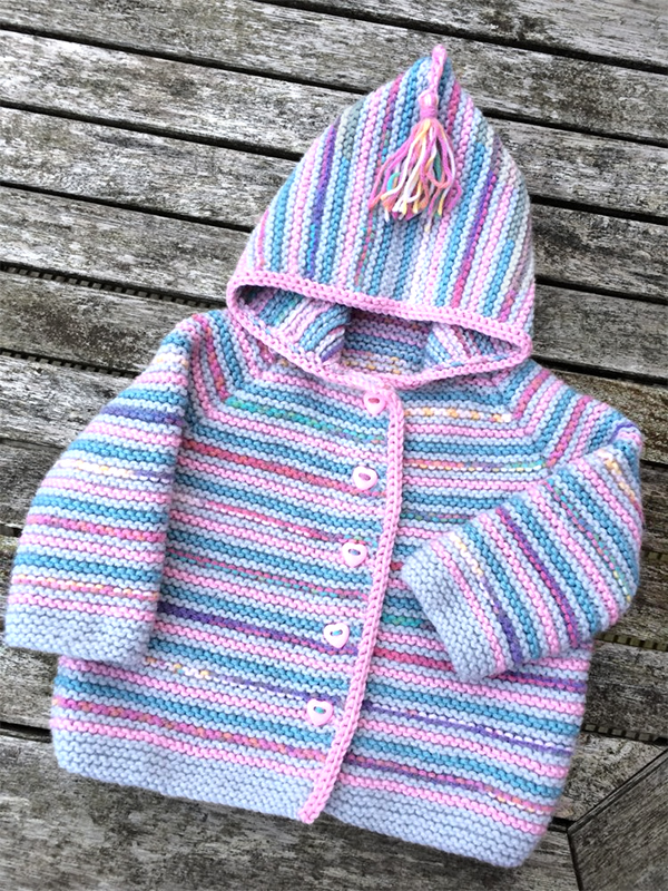 Knitting Pattern for Pippa's Baby Cardigan