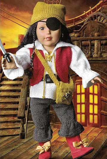 Knitting Pattern for Pirate Doll Costume