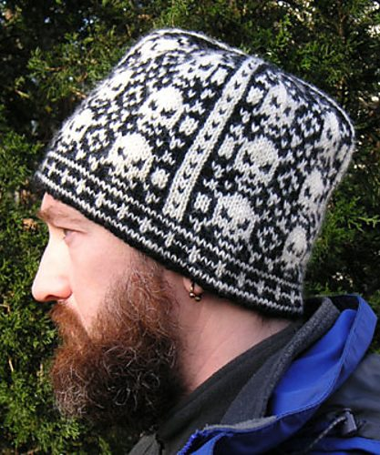 Free Knitting Pattern for We Call Them Pirates skull and crossbones hat